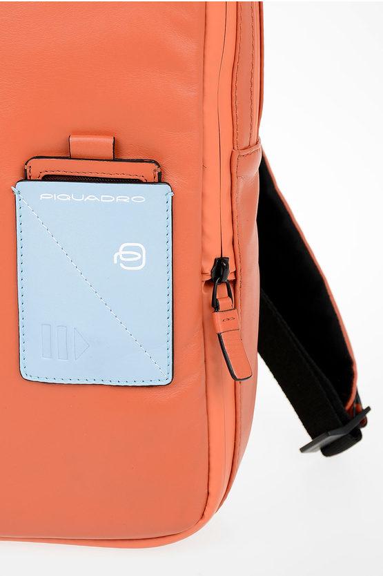 EXPLORER Zaino in Pelle Espandibile PC e porta iPad® Arancio