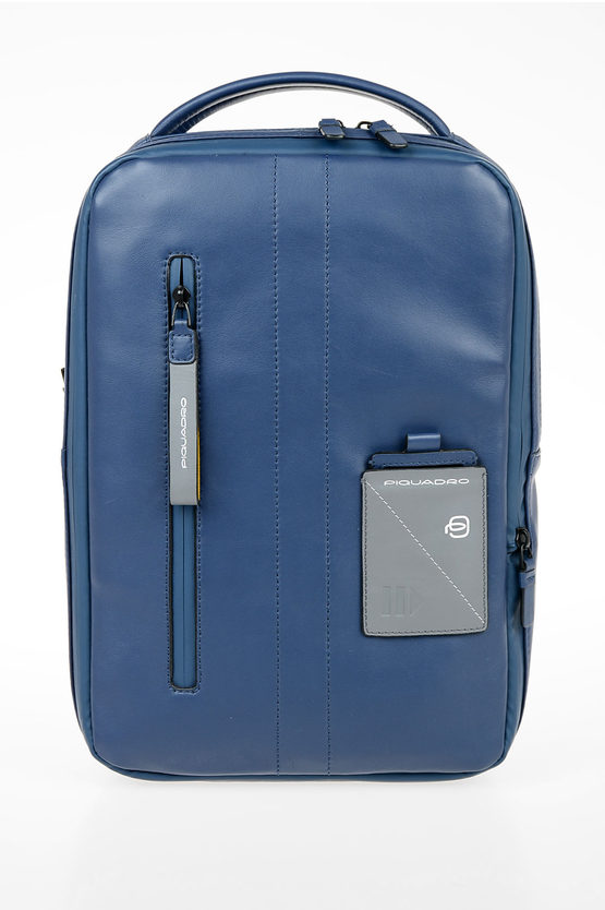 EXPLORER Zaino in Pelle Espandibile PC e porta iPad® Blu