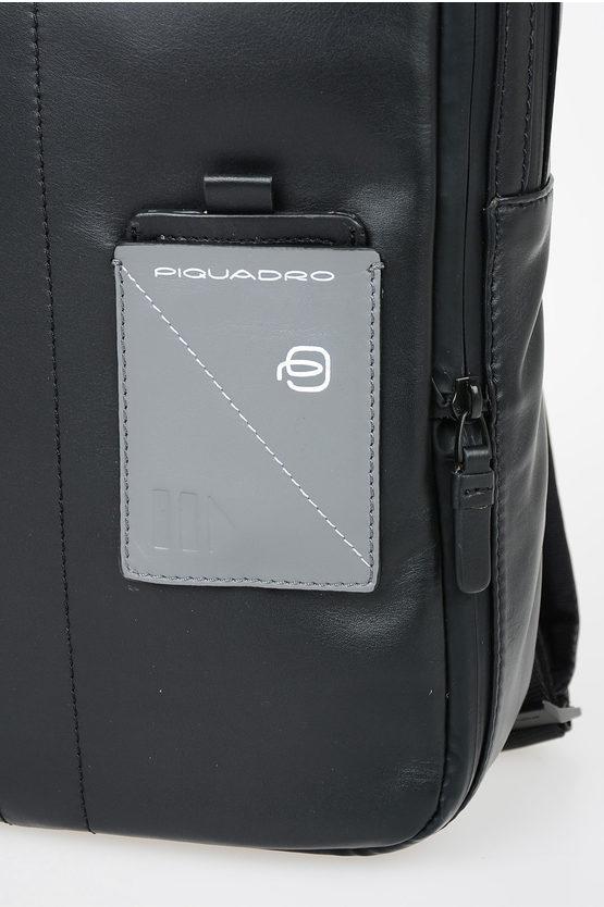 EXPLORER Zaino in Pelle Espandibile PC e porta iPad® Nero