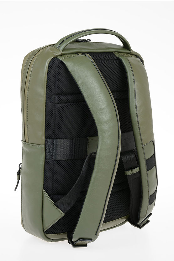 EXPLORER Zaino in Pelle Espandibile PC e porta iPad® Verde