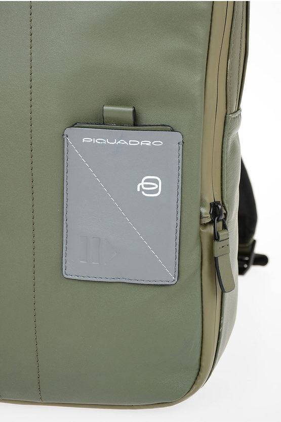 EXPLORER Zaino in Pelle Espandibile PC e porta iPad® Verde