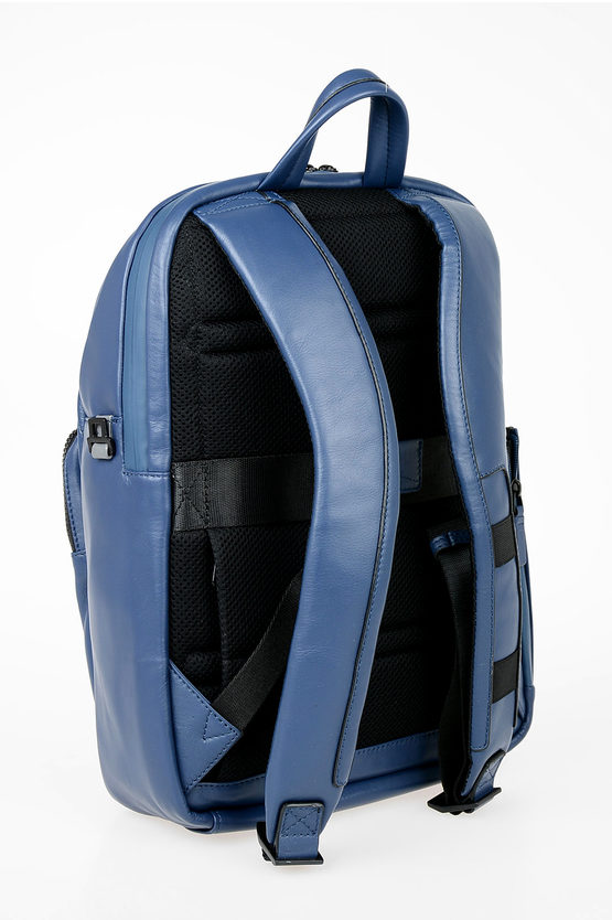 EXPLORER Zaino in Pelle Porta Ipad Blu