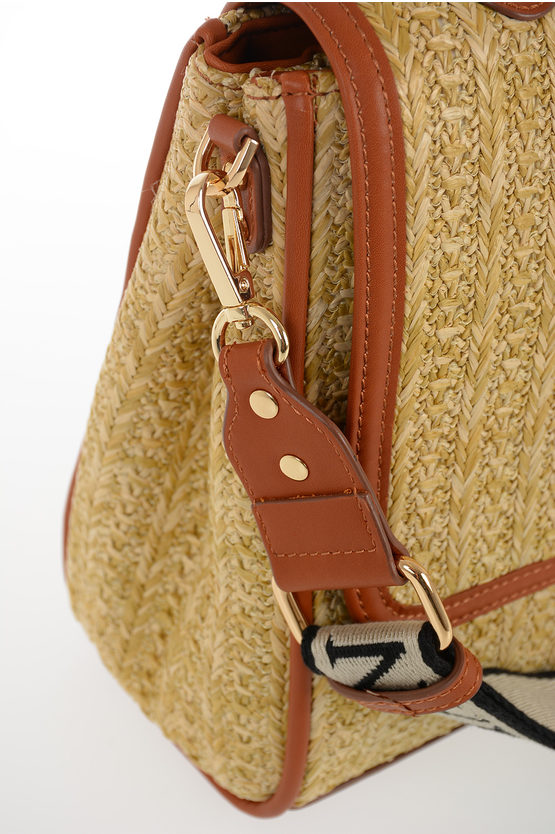 Faux Braided Leather SMALL FLAP GLORIA Small Bag
