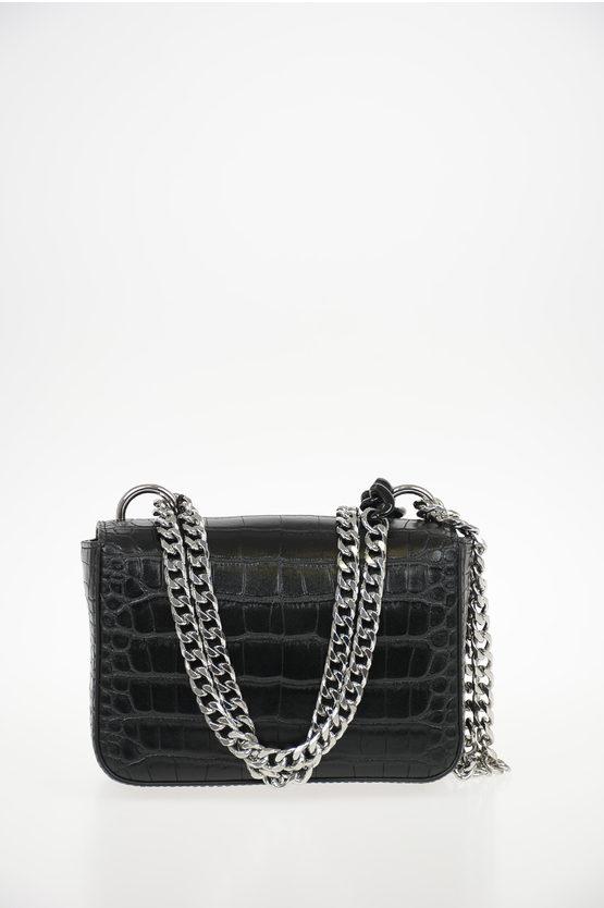Faux Leather Crocodile Printed CAMIRAN Mini Bag