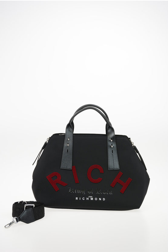 Faux Leather Embroidered CROAG Trunk Bag