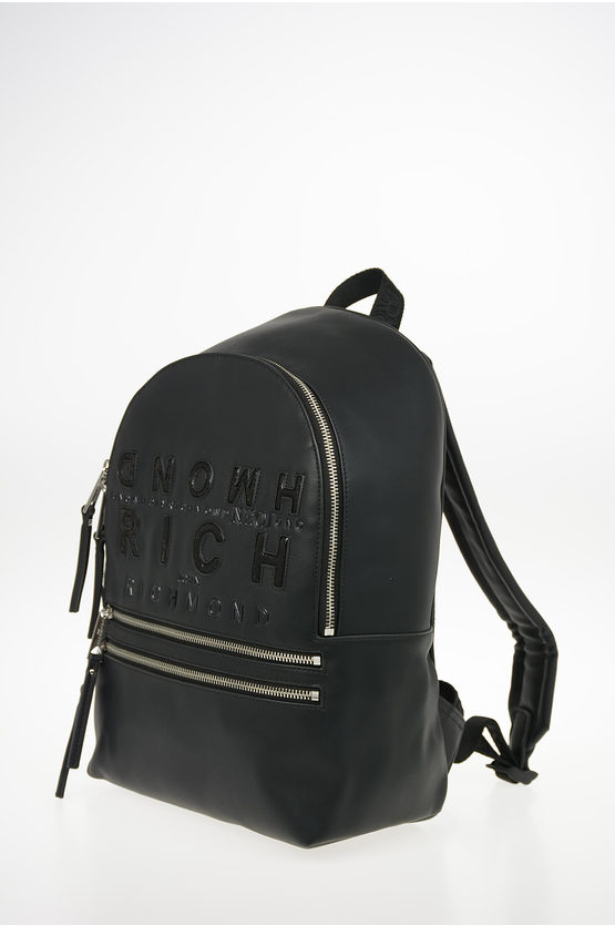 Faux Leather Embroidered OCUZO Backpack