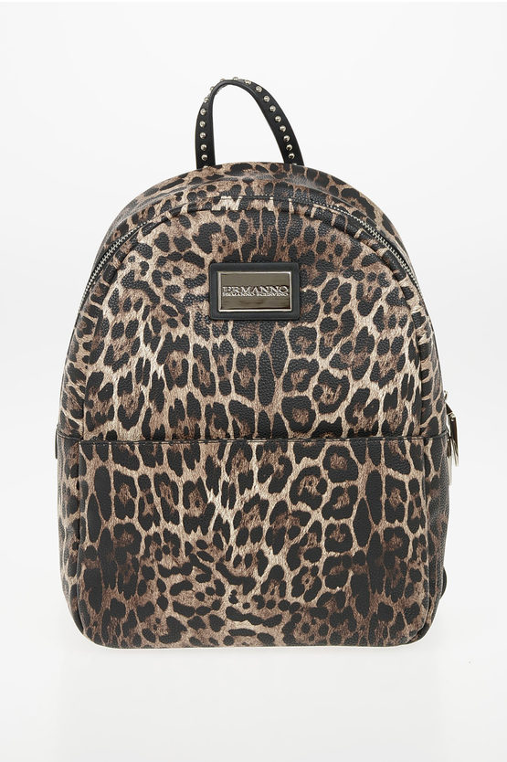 Faux Leather Leopard Printed GRETA Backpack