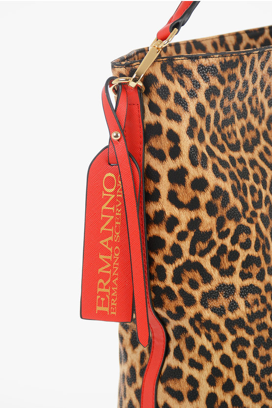 Faux Leather Leopard Printed HOBO GRETA Bag