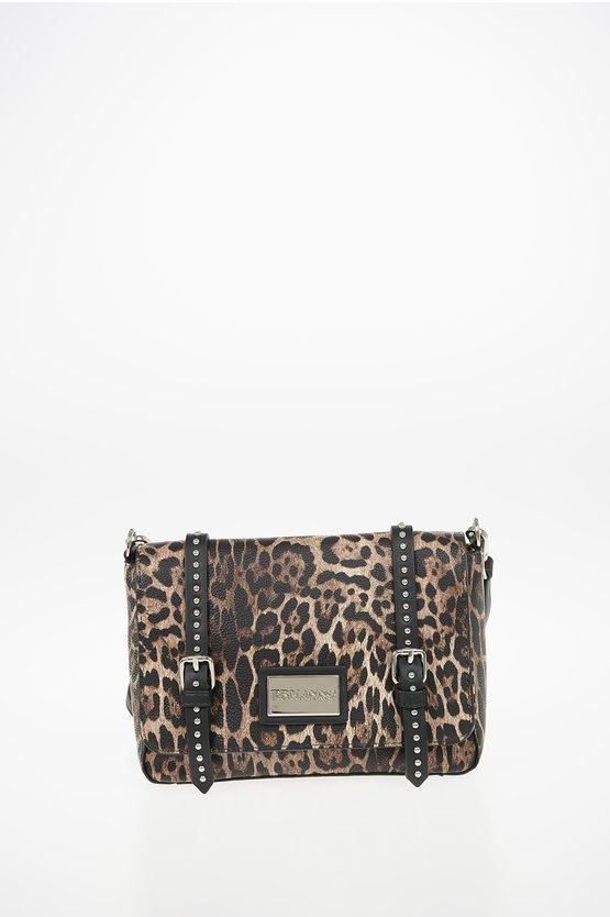 Faux Leather Leopard Printed SMALL FLAP GRETA Bag