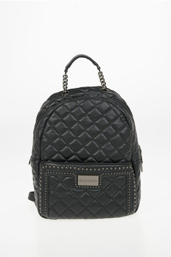 Faux Leather Quilted IVY Backpack