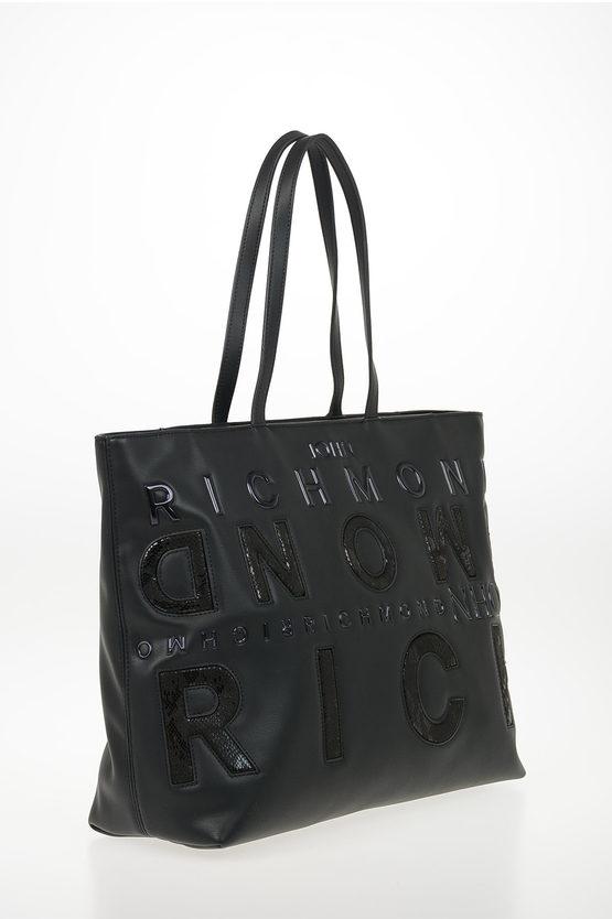 Faux Leather Snake Printed GEBERGA Shopping Bag
