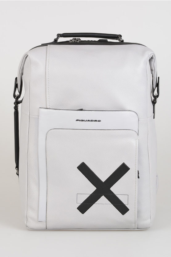 FEELS Leather Backpack TSA lock Grey