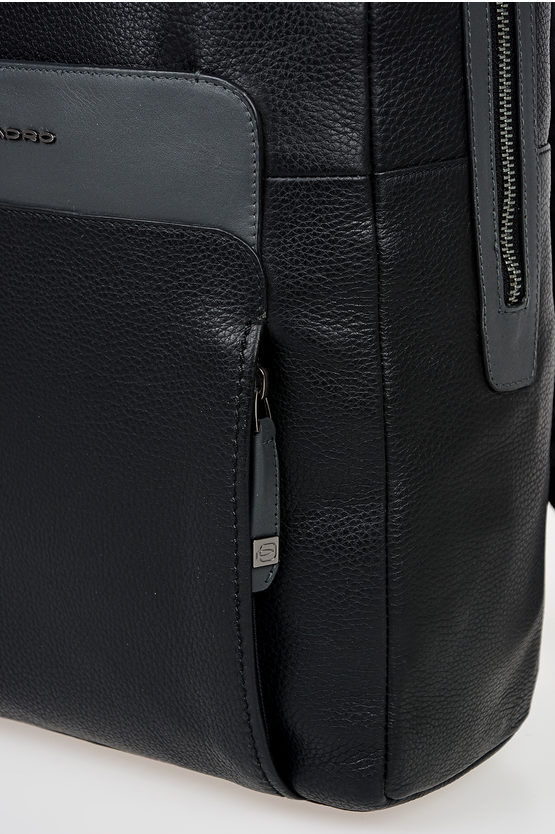 FEELS Leather Computer Backpack Black