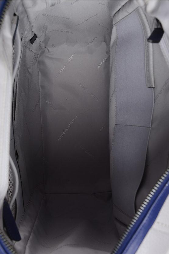 FEELS Zaino in pelle Multi Tasca con TSA Grigio