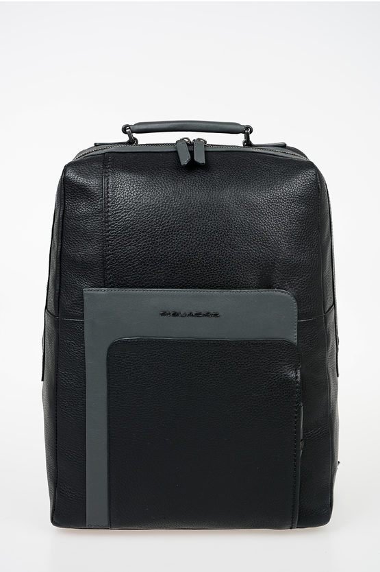 FEELS Zaino Porta Pc In Pelle Nero