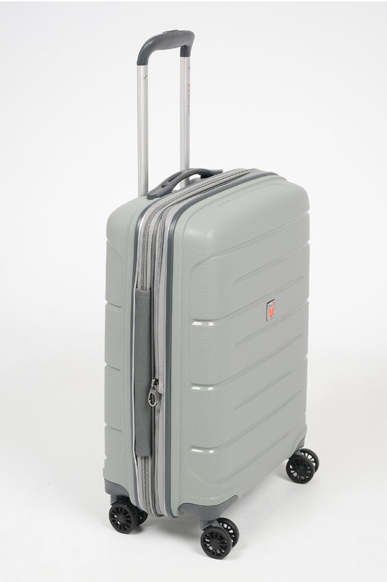 FLIGHT DLX Cabin Trolley 55cm 4W Expandable Grey
