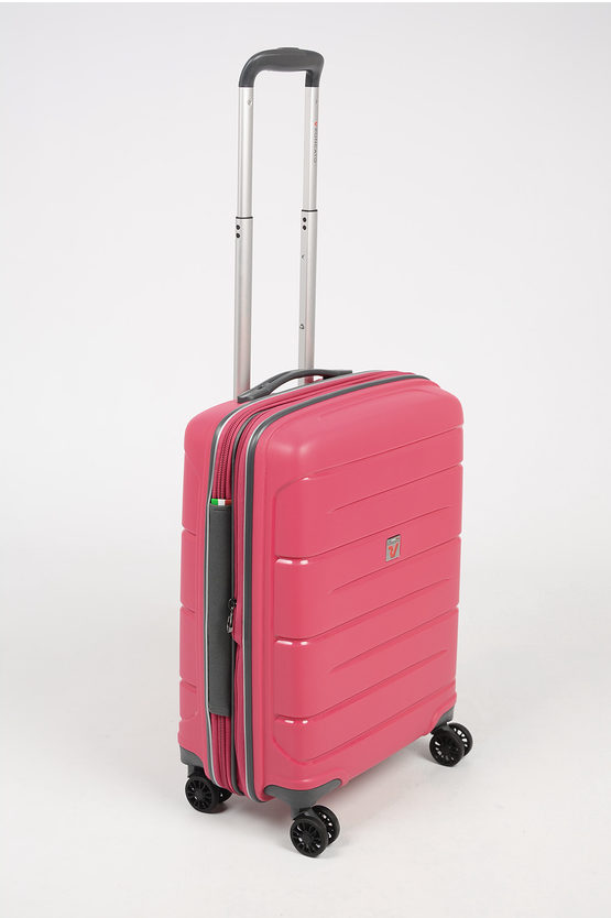 FLIGHT DLX Cabin Trolley 55cm 4W Expandable Pink