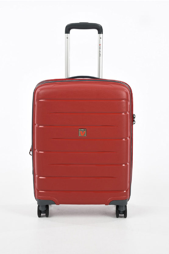 FLIGHT DLX Cabin Trolley 55cm 4W Expandable Red