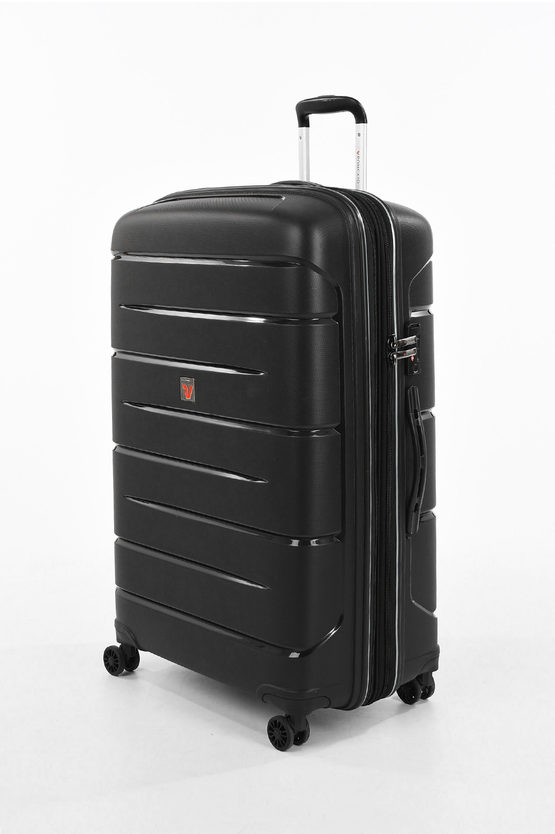FLIGHT DLX Large Trolley 79cm 4W Expandable Black