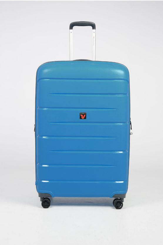 FLIGHT DLX Large Trolley 79cm 4W Expandable Blue