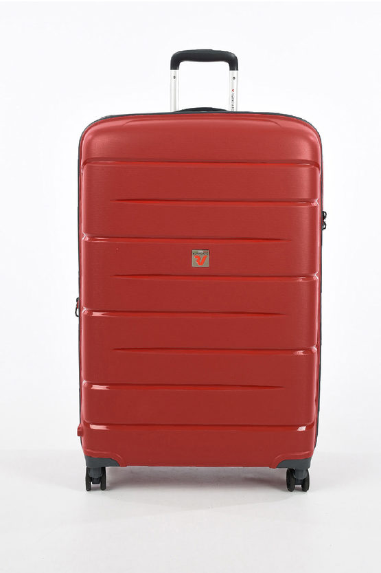 FLIGHT DLX Large Trolley 79cm 4W Expandable Red
