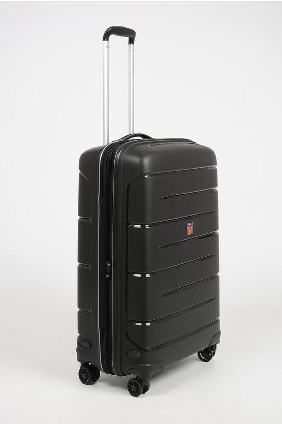 FLIGHT DLX Medium Trolley 71cm 4W Expandable Black