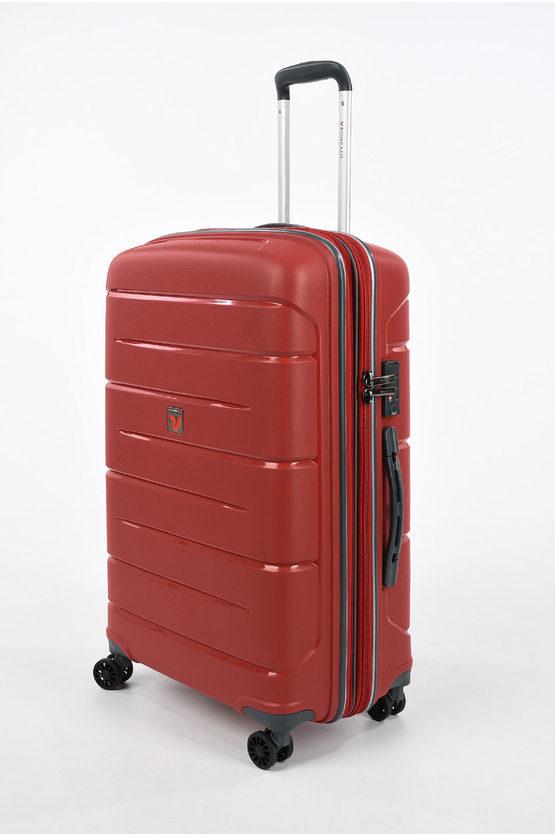 FLIGHT DLX Medium Trolley 71cm 4W Expandable Red
