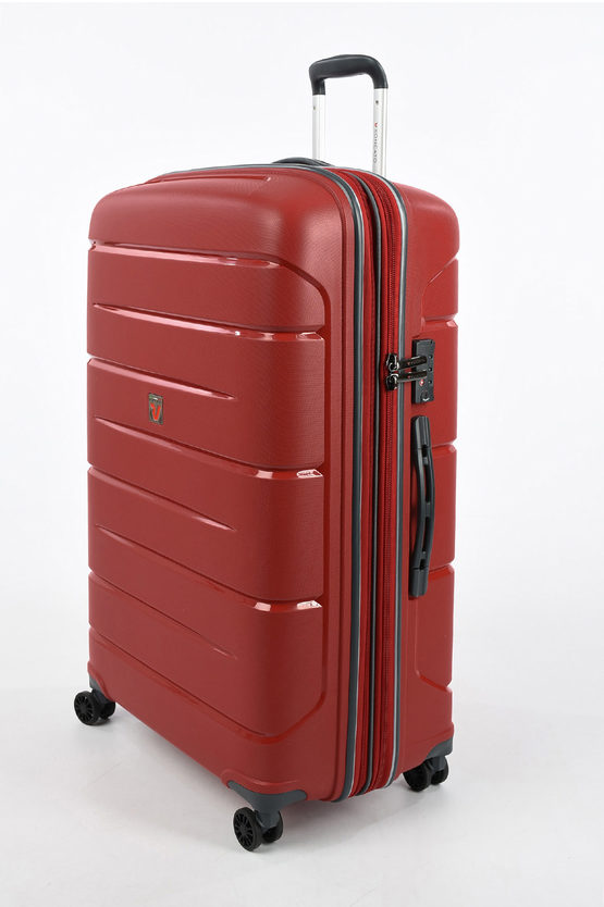 FLIGHT DLX Set 3 Trolley 4R Rosso Scuro