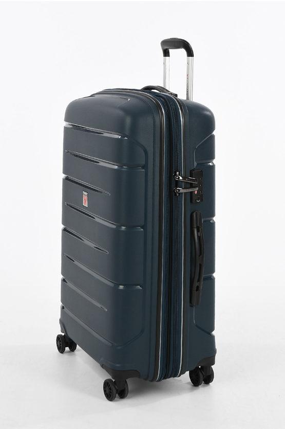 FLIGHT DLX Set 3 Trolley 4W Dark Blue