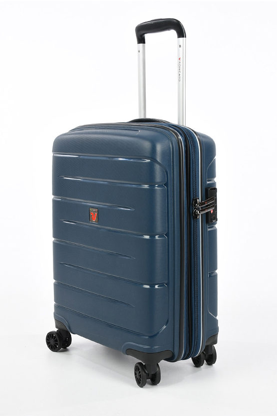 FLIGHT DLX Trolley Cabina 55cm 4R Espandibile Blu Scuro