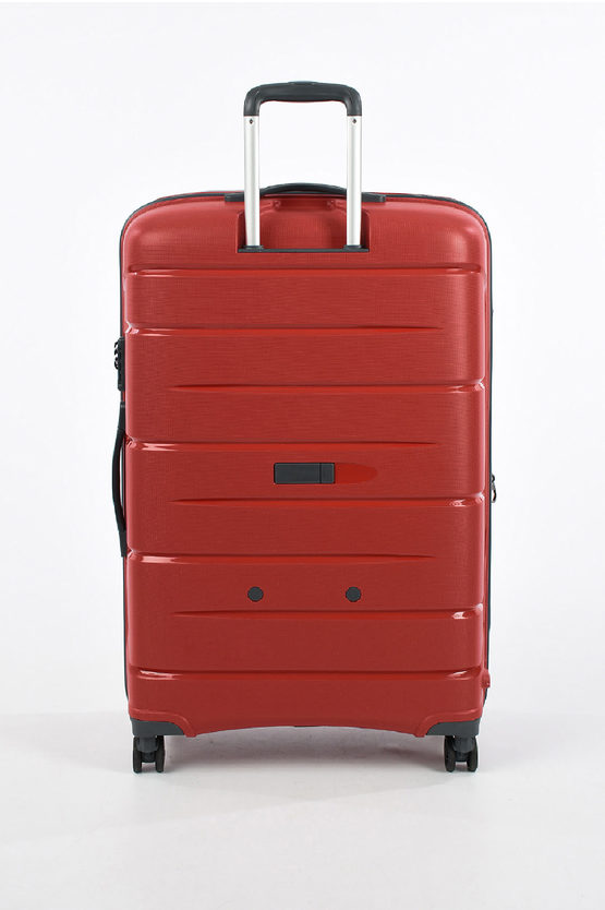 FLIGHT DLX Trolley Grande 79cm 4R Espandibile Rosso