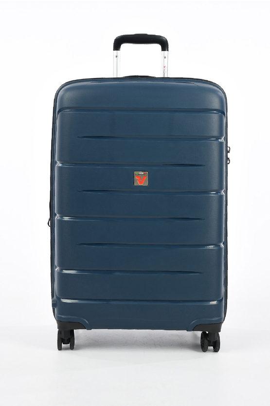 FLIGHT DLX Trolley Medio 71cm 4R Espandibile Blu Scuro