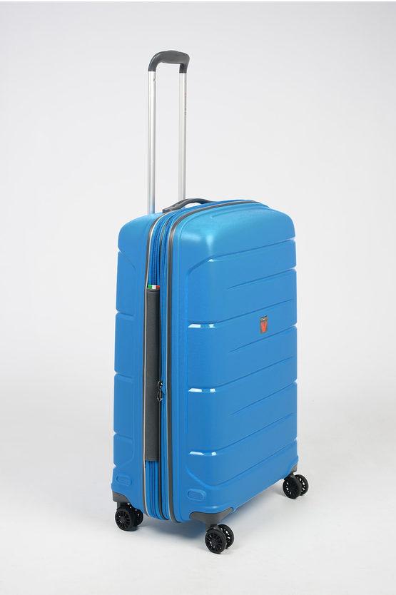 FLIGHT DLX Trolley Medio 71cm 4R Espandibile Cielo