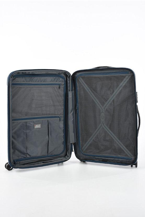 FLIGHT DLX Trolley Medio Espandibile 71cm 4R Blu Scuro