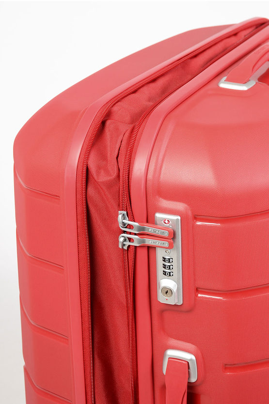 FLUX Large Trolley 75Cm 4W Expandable Red