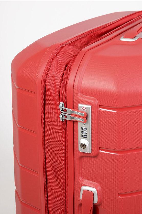 FLUX Trolley Grande 81Cm 4R Espandibile Rosso