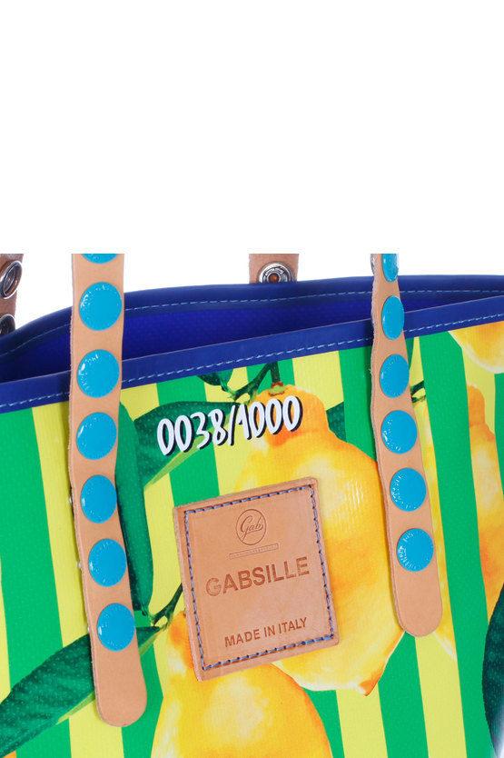 GABSILLE Borsa Shopper Stampa Limoni