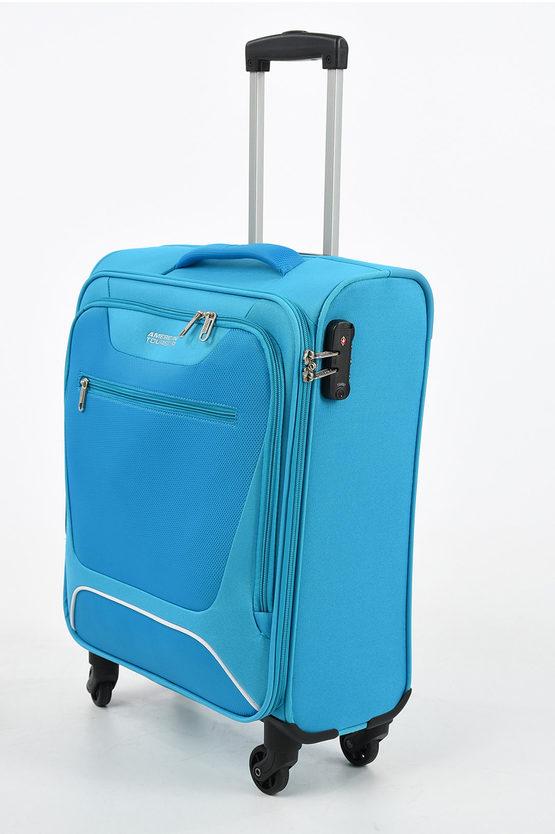 HYPERBREEZ Cabin Trolley 55cm 4W Blue