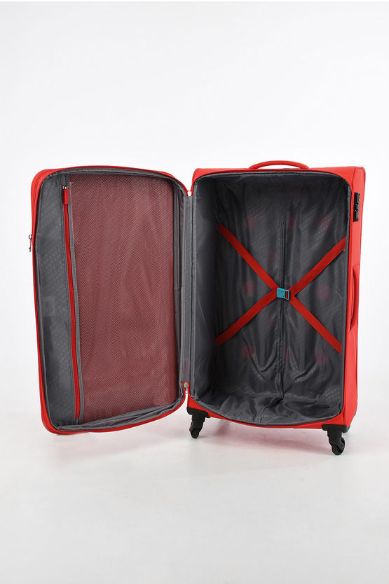 HYPERBREEZ Large Trolley 81cm 4W Expandable Red