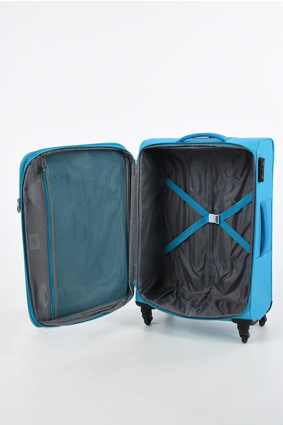 HYPERBREEZ Medium Trolley 69cm 4W Expandable Blue