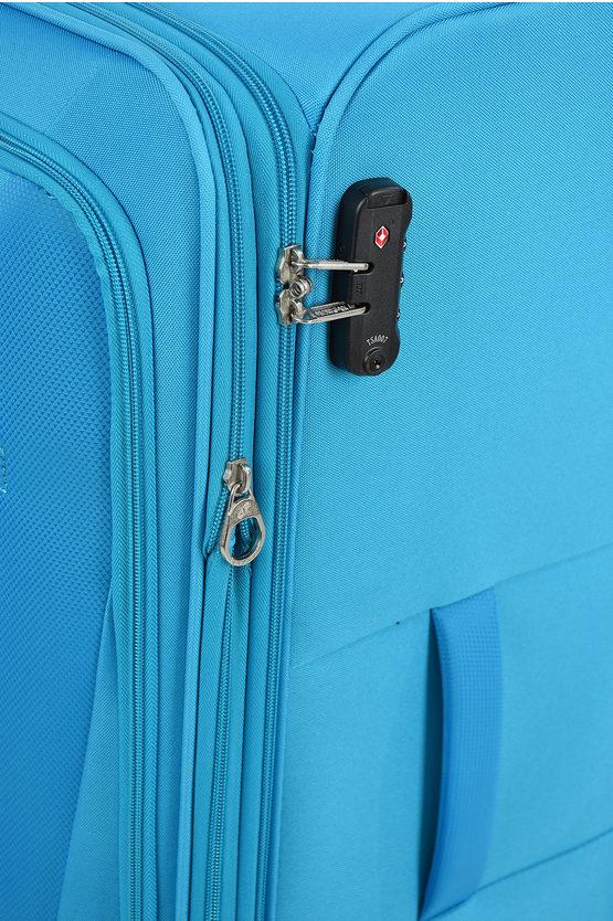 HYPERBREEZ Trolley Grande 81cm 4R Espandibile Blu