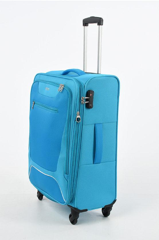 HYPERBREEZ Trolley Medio 69cm 4R Espandibile Blu