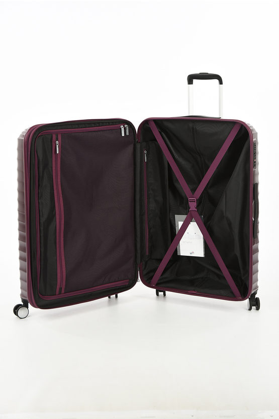 JETGLAM Large Trolley 77cm 4W  Expandable Metallic Grape Purple