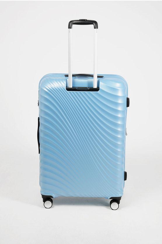 JETGLAM Large Trolley 77cm 4W Expandable Metallic Powder Blue