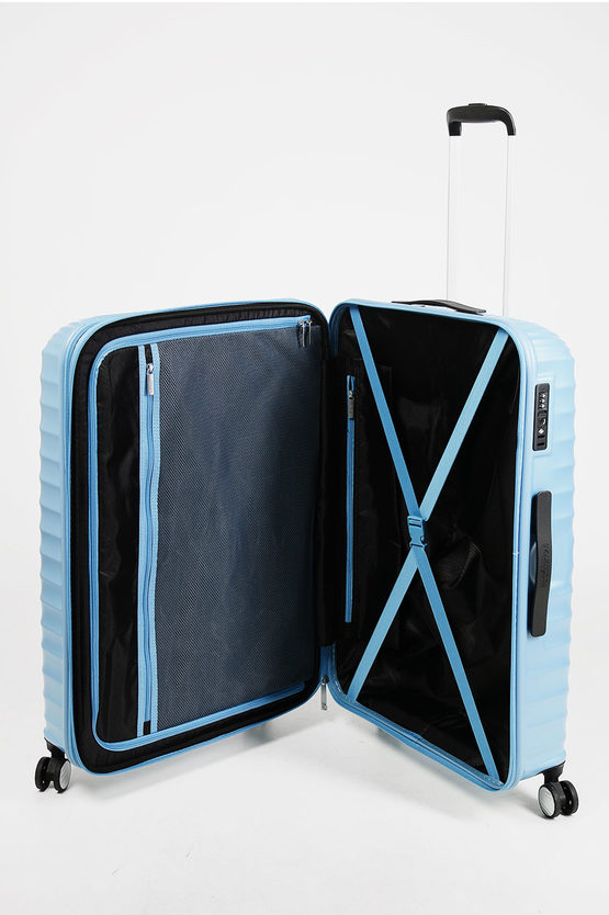 JETGLAM Trolley Grande 77cm 4R Espandibile Metallic Powder Blue