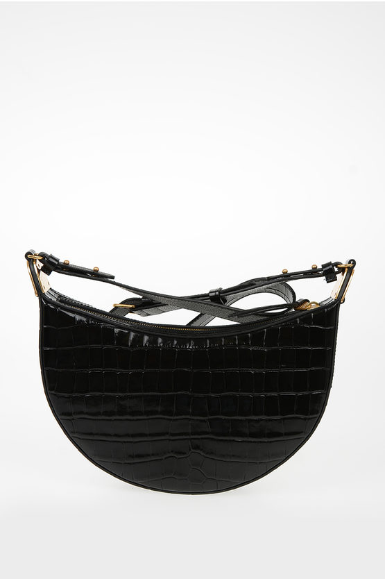 Leather Crocodile Printed ANAIS Bag