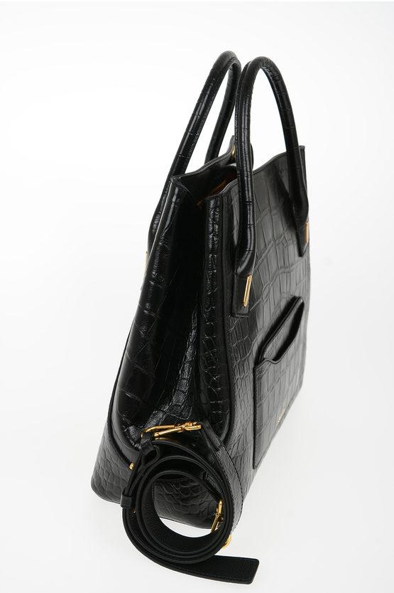 Leather Crocodile Printed EVASION Bag