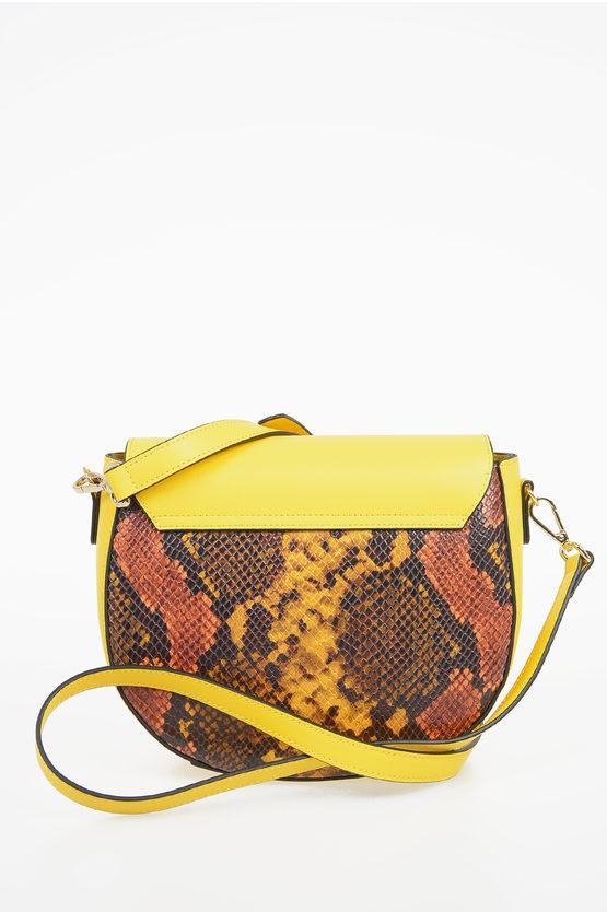Leather SARAN Cross Over Bag