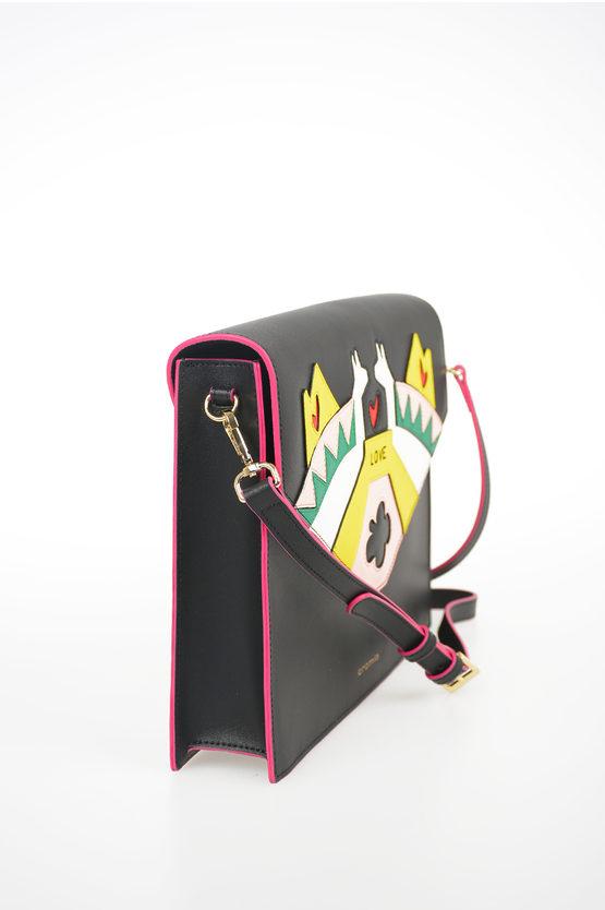Leather TRAVEL IN LOVE Shoulder Bag