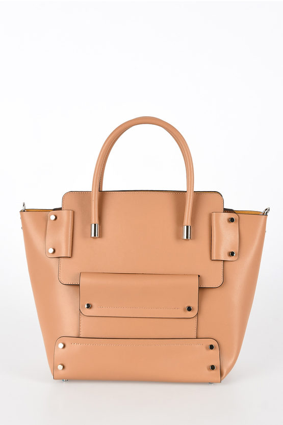 Leather UNICA Tote Bag